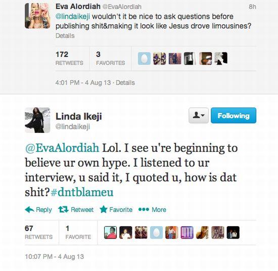 Eva Alordiah v Linda Ikeji Celebrities Behaving Badly 2