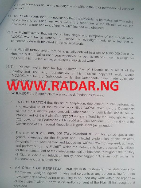 LEGAL DRAMA: PAUL PLAY SUES Optima Media Group (Nigerian Idol) and ...