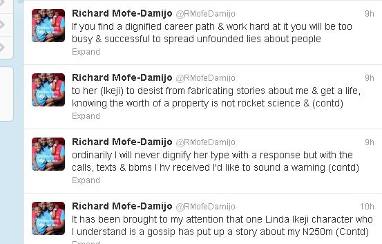 Richard Mofe-Damijo RMD Warns Linda Ikeji on Untrue Stories