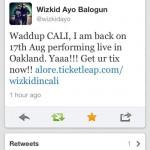 Wizkid Ayo Balogun Tweet 150x150 - AML Exclusive: Promoter Eche-Enziga Emole Explains Why he is Angry Over EME's Cancellation of the Wizkid California Concert
