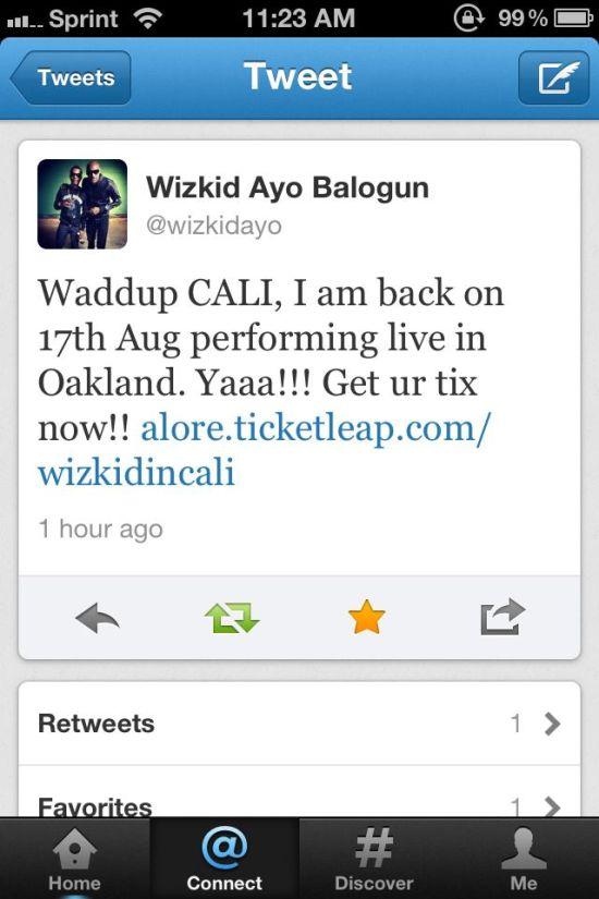 Wizkid Ayo Balogun Tweet