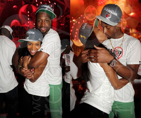 Dwayne Wade and Gabrielle Union