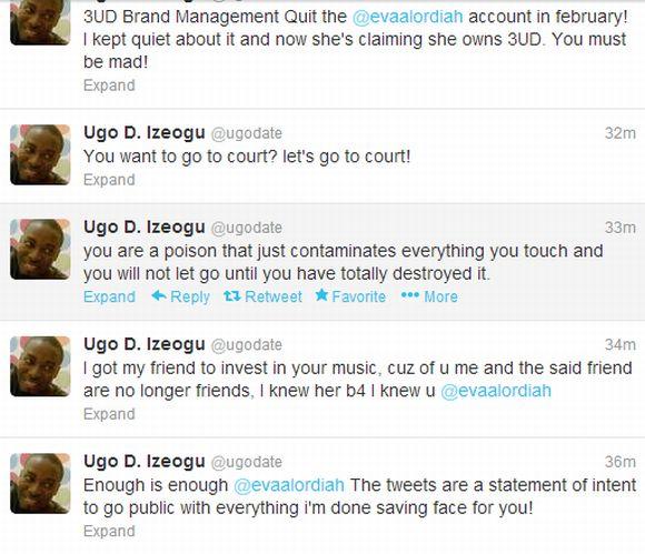 Ugo D Igoezu Bitter War with Eva on Twitter 4