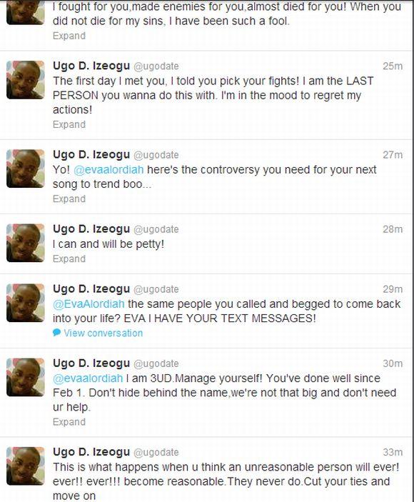 Ugo D Igoezu Bitter War with Eva on Twitter 5