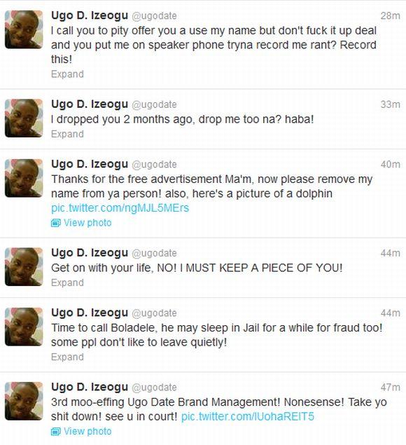 Ugo D Igoezu Bitter War with Eva on Twitter 6