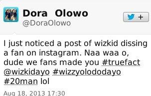 Wizkid Insults Fan on Twitter 4