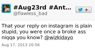Wizkid Insults Fan on Twitter 5