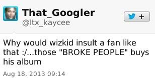 Wizkid Insults Fan on Twitter 6
