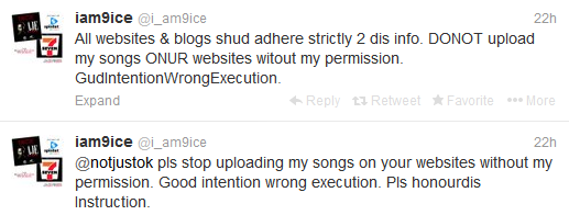 9ice Warns Notjustok and Other Bloggers to Quit Publishing his Music