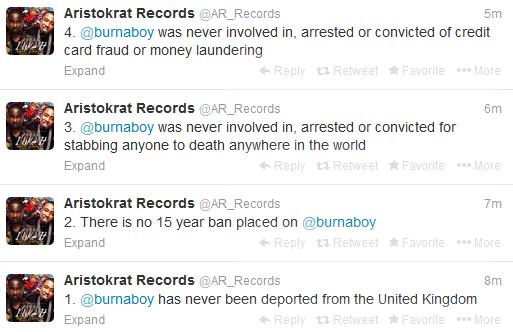 Burna Boy Aristokrat Records Denies Allegations 5