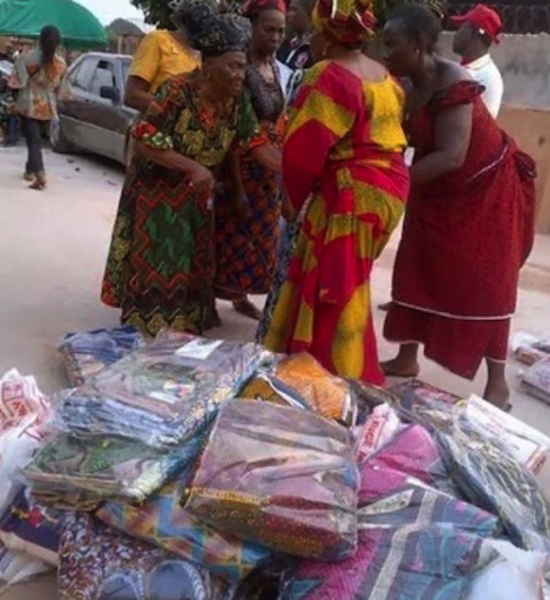 Mercy Johnson Donates Food and Clothing to 5000 Widows 5