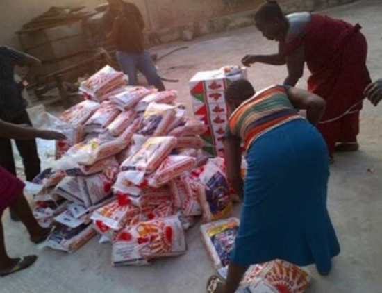 Mercy Johnson Donates Food and Clothing to 5000 Widows 6
