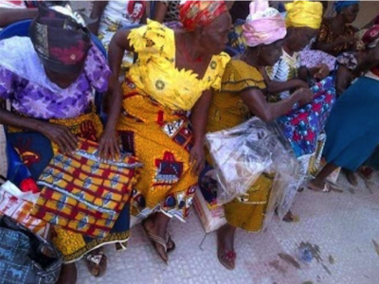 Mercy Johnson Donates Food and Clothing to 5000 Widows 7
