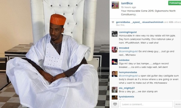 9ice to Run for Political Office