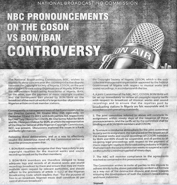 NBC Ban