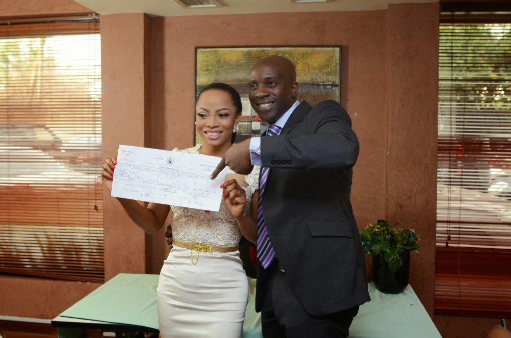 Toke Makinwa Weds