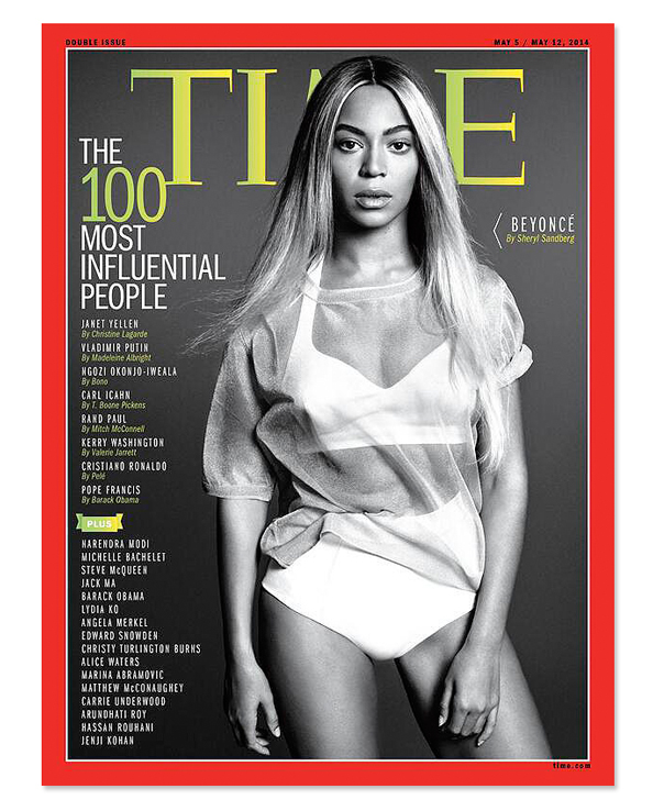 Beyonce on Cover of TIME 100