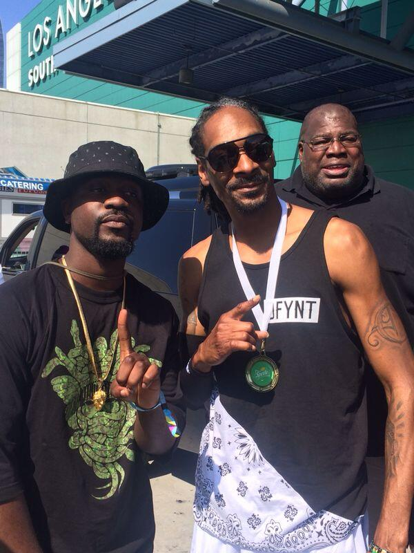 Sarkodie Hobnobs with Snoop Dogg at BET LA Live Experience