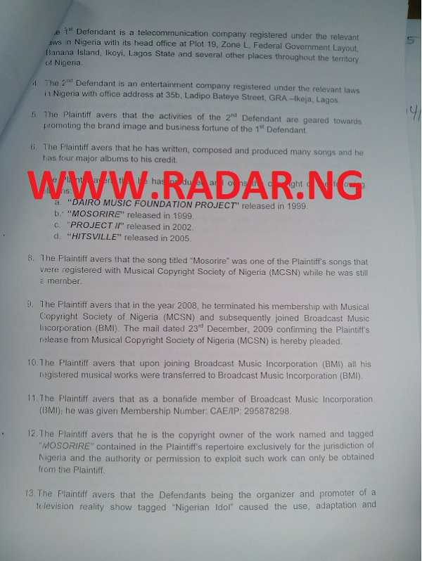 Paul Play Sues OPTIMA Media RadarNG3.ng