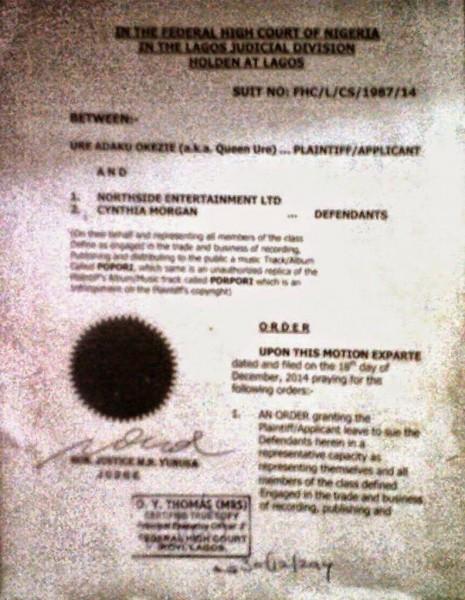 Queen Ore Injunction