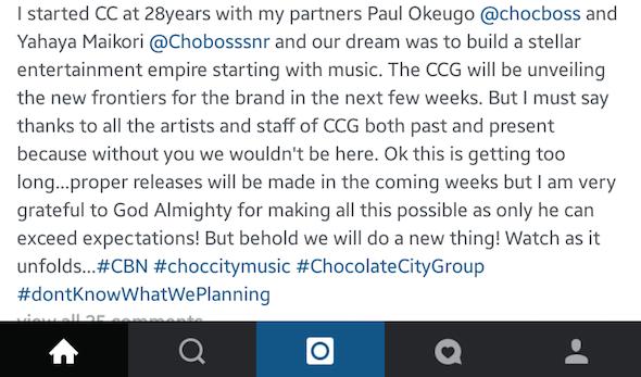 Audu Maikori Steps Down as Chocolate City CEO 3
