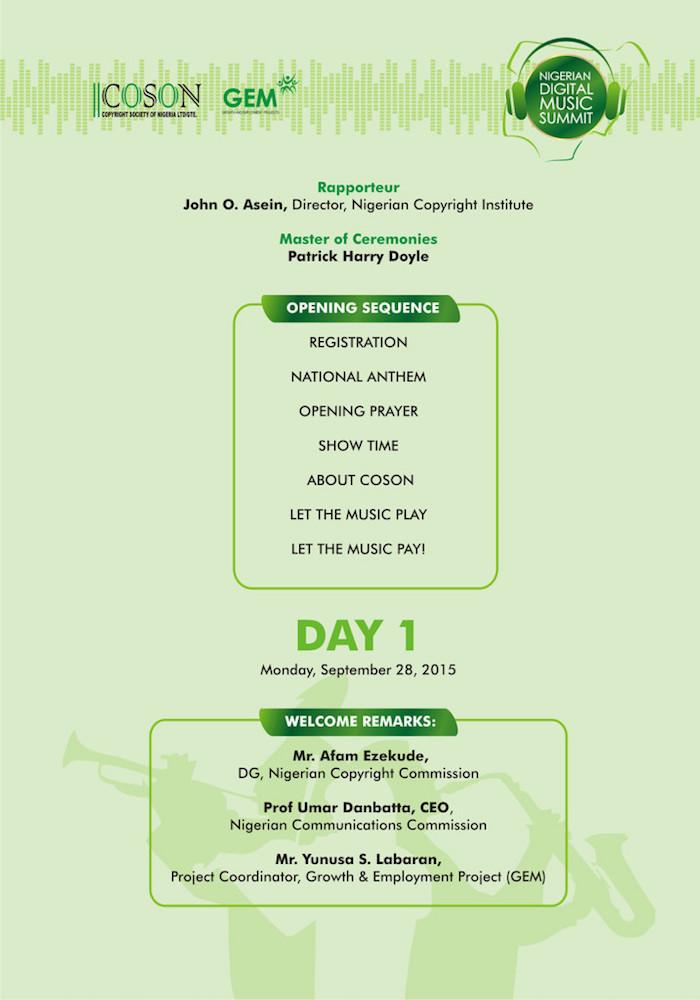 Nigerian Digital Music SummitDay1