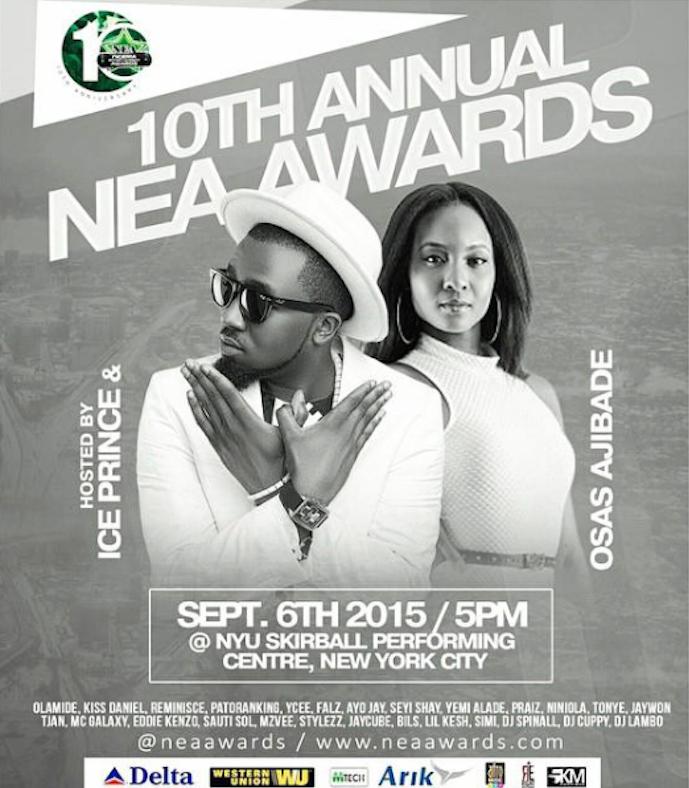 Osas and Ice Prince to Host NEA Awards 2015