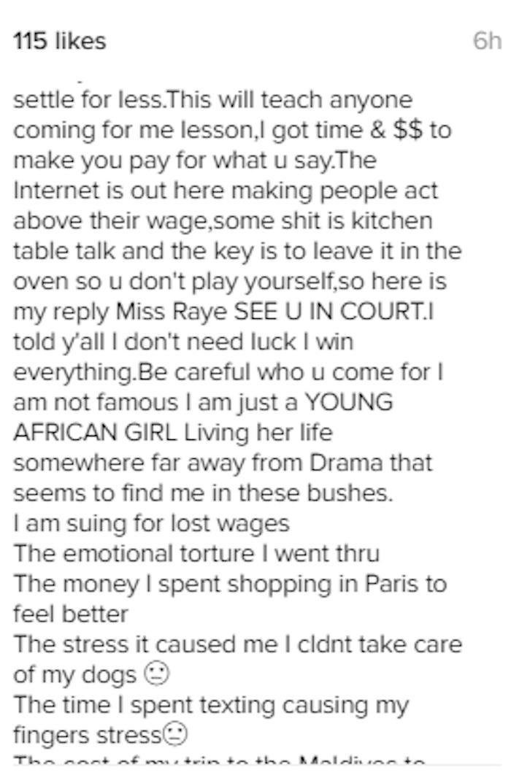 Dencia v. Lisa Raye Whitenicious 3