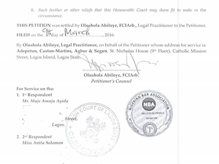 Toke Makinwa Divorce Papers 12