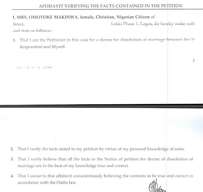 Toke Makinwa Divorce Papers 13