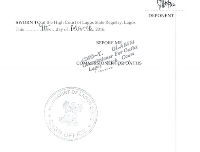Toke Makinwa Divorce Papers 14