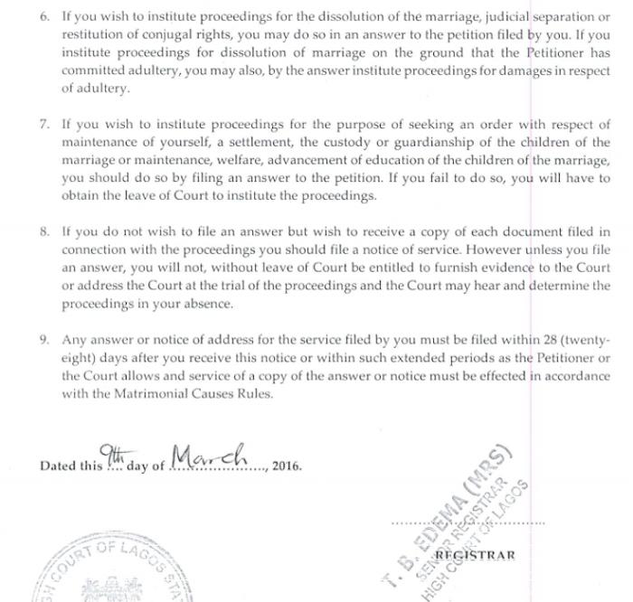 Toke Makinwa Divorce Papers 3