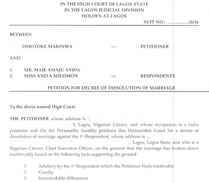 Toke Makinwa Divorce Papers 4