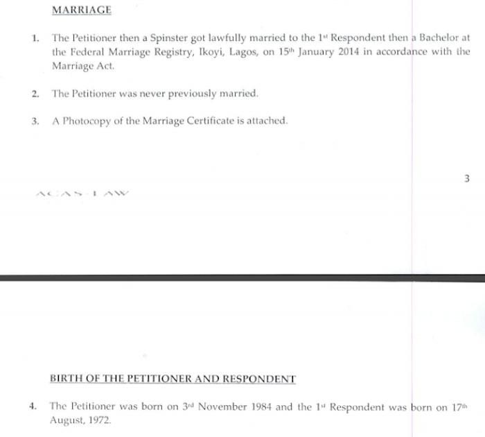 Toke Makinwa Divorce Papers 5