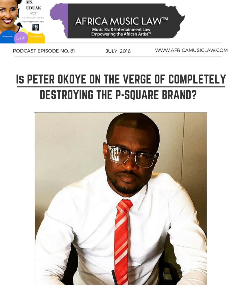 Peter Okoye P Square - AML 081: Peter Okoye Threatens to Sue Brothers Paul & Jude Okoye, is he on the Verge of Completely Destroying the P-Square Brand?