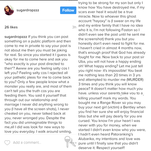 Utomi Domesti Violence 2 - Should Patoranking leave Foston Musik over his label owner's alleged bad act of domestic violence?