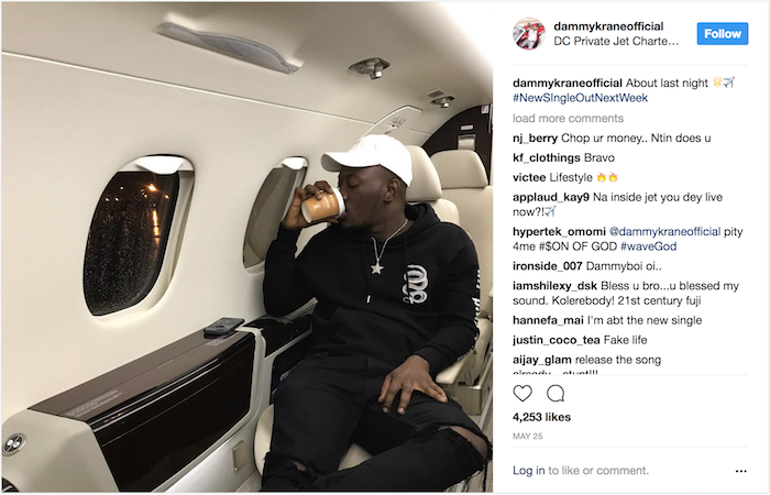 Dammy Krane Private Jet Arrested 4 - Breaking news: Nigerian Pop star Dammy Krane arrested in the U.S. for grand theft, credit card and identity fraud