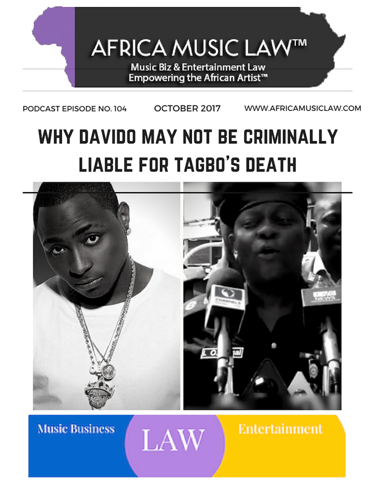 Why Davido May Not be Criminally Liable for Tagbos Death - AML 104: Why Davido May Not Be Criminally Responsible for Tagbo's Death