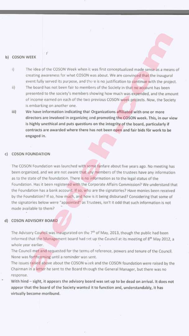 COSON Letter 3 - COSON Saga: Music Icon Onyeka Onwenu, in 2015, Raised the Same Collusion Issues Against Okoroji the Board Now Raises