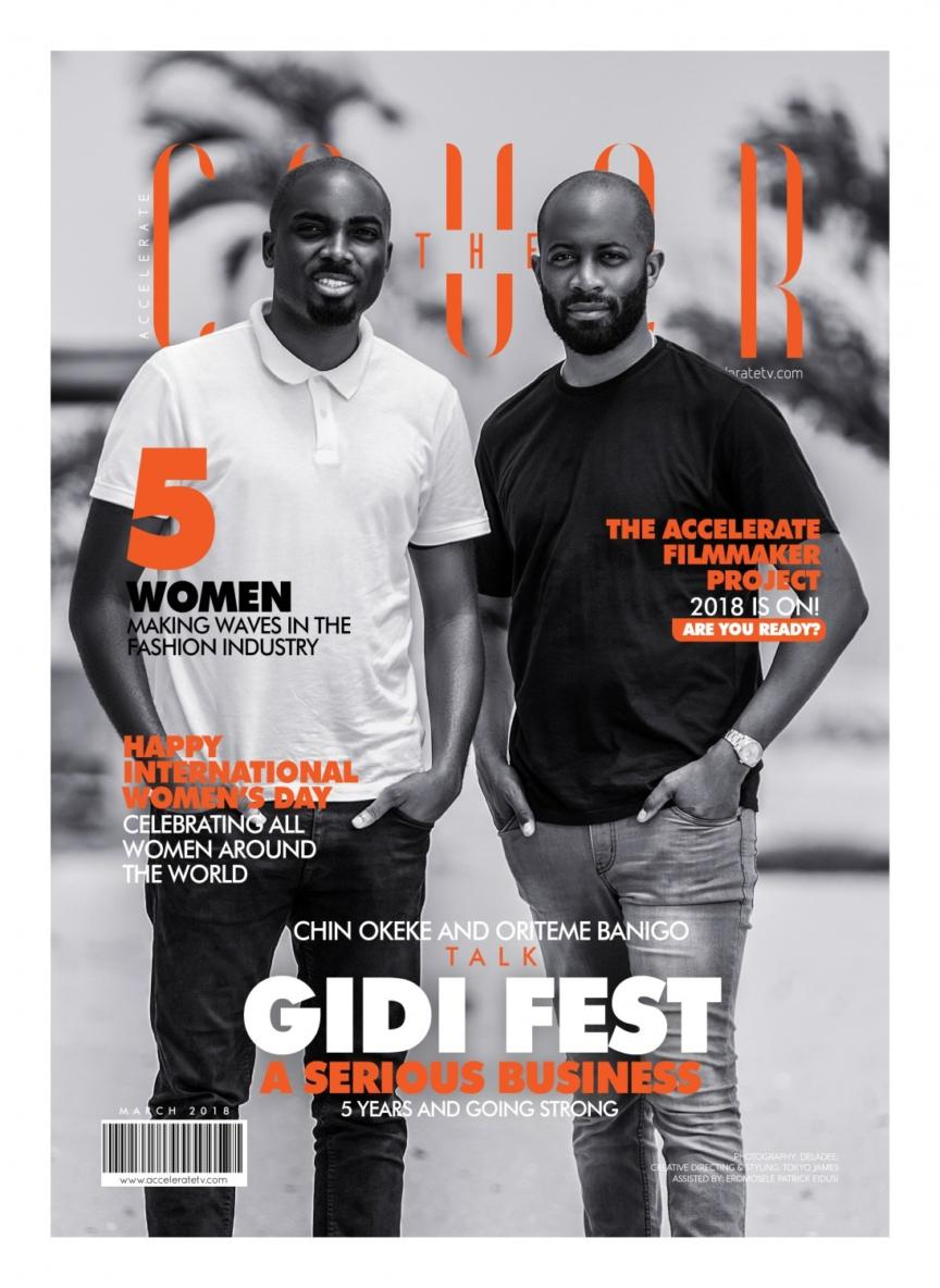Chin Okeke The Cover 864x1184 - Gidi Fest 2018: Chin Okeke and his Business Partner are Stars on the Cover of Accelerate TV Magazine