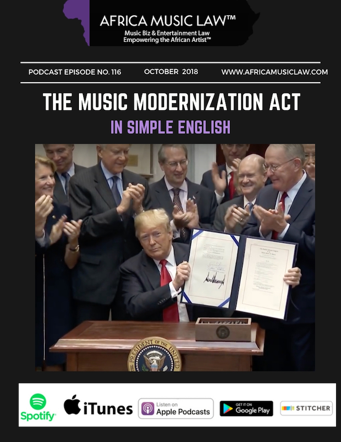 Music Modernization Act - AML 116: The Music Modernization Act in Simple English (PODCAST)